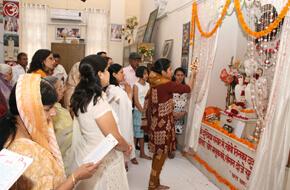 Aarti at Naraina ashram